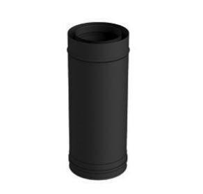 Elément droit 50 cm noir - 80 mm