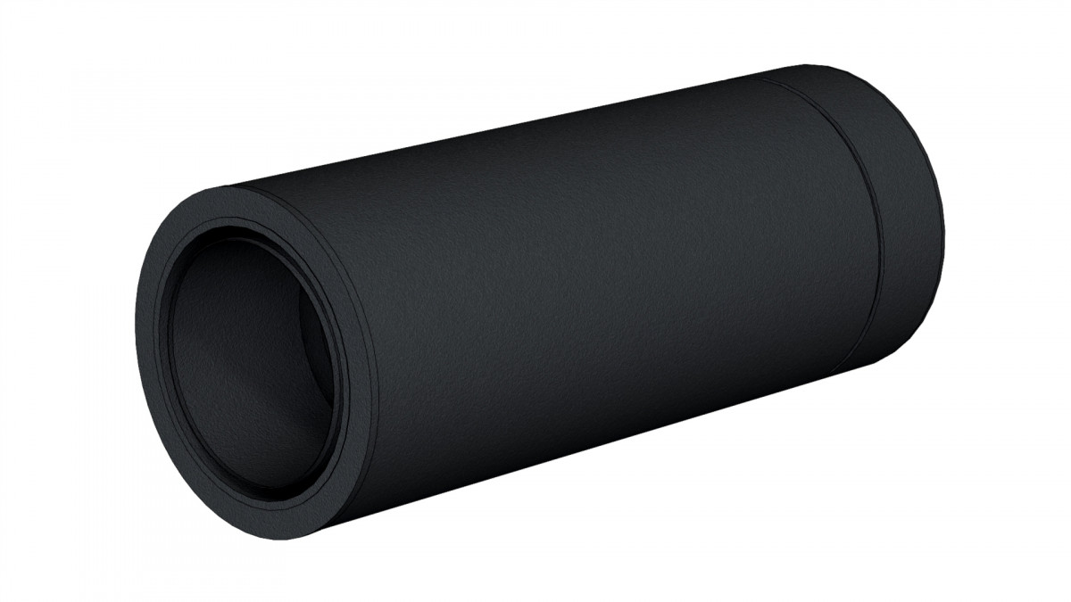 Connexion simple double par emboitement noir h = 44 cm