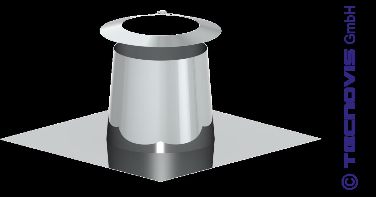 Solin en pente pour toit plat 0 -5º + collerette